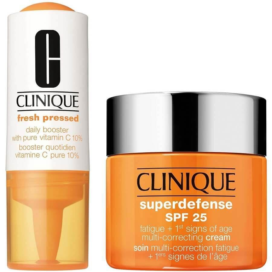 Clinique - Superdefense Cream Dry Skin SPF25 + Fresh Pressed -