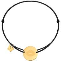 Borboleta Bracelet Black Gold Lips