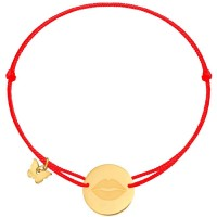 Borboleta Bracelet Red Gold Lips