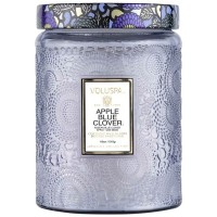 VOLUSPA Apple Blue Clover Large Jar Candle