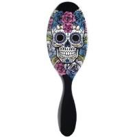 Wet Brush Sugar Skull Purple Rose Brush
